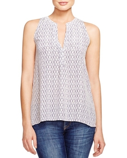 Joie  - Printed Silk Tank Top
