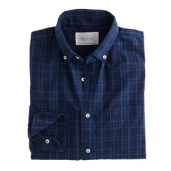 Shuttle Notes - Indigo Poplin Shirt