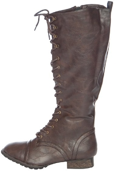 Breckelles - High Lace Up Combat Boots