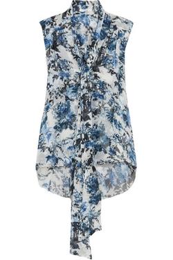 Erdem  - Risa Floral-Print Silk-Ggeorgette Top