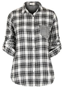 Ililily - Tartan Plaid Checkered Shirt