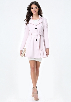 Bebe - Aine Pleated Sleeve Coat