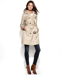 London Fog - All-Weather Hooded Trench Coat