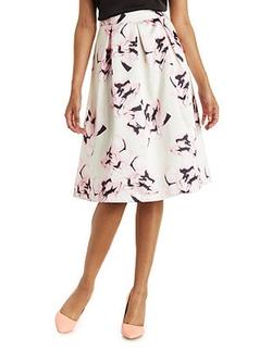 Charlotte Russe - Wild Cat Floral Midi Skirt
