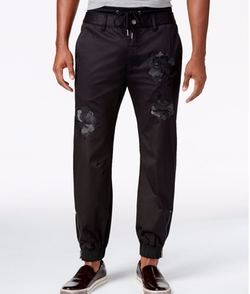 Guess - Chintz Embroidered Jogger Pants
