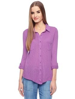 Splendid - Slub Jersey Button Down Shirt