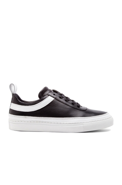 Public School - Delcon Leather Low Top Sneakers