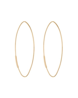 Lana - 14k Straight Magic Large Hoop Earrings