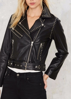 Nasty Gal - Studded Leather Jacket