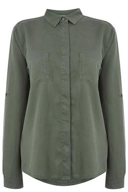 Oasis - Tori Soft Khaki Shirt