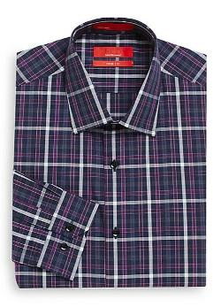 Saks Fifth Avenue RED  - Trim-Fit Windowpane Plaid Dress Shirt