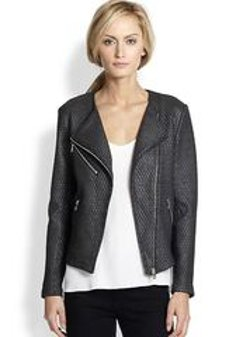 Generation Love - Metallic Quilted Moto Jacket