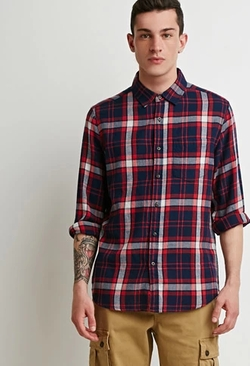 21 Men - Tartan Plaid Flannel Shirt