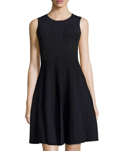 Line   - Polka-Dot Sleeveless Fit-and-Flare Dress
