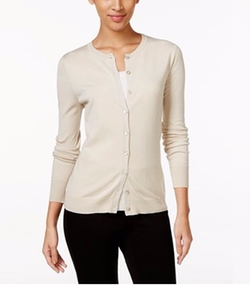 August Silk - Crew-Neck Cardigan