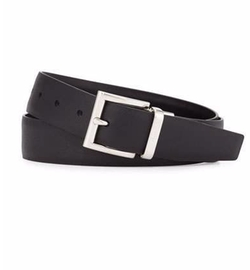 Prada - Saffiano/Smooth Leather Reversible Belt