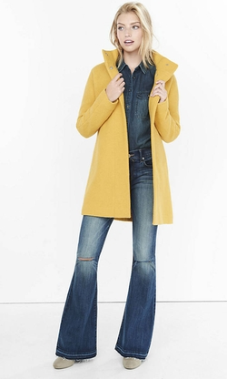 Express - Textured Cocoon Coat