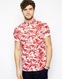ASOS  - Shirt With Floral Print In Short Sleeves