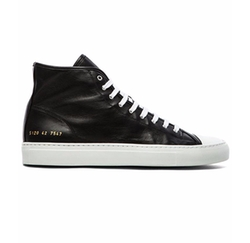 Common Projects - Leather Tournament Cap Toe High Sneakers