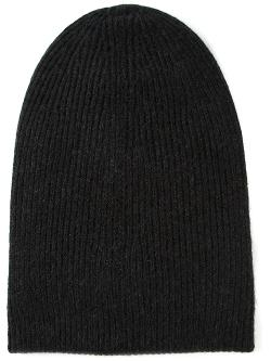 Helmut Lang  - Ribbed Knit Slouchy Beanie Hat
