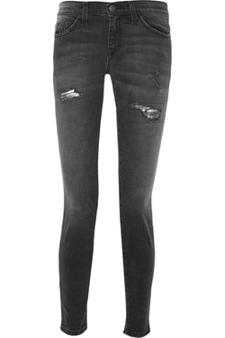 Current/elliott - Distressed Mid-Rise Jeans