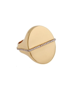 Rachel Zoe - Gold Plated Stamp Ring