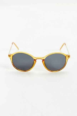 Urban Outfitters - Translucent Orange Metal Arm Sunglasses