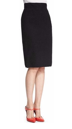 Oscar de la Renta - High-Waist Pencil Skirt