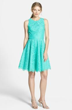 Shoshanna - Judith Lace Fit & Flare Dress