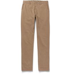 Etro - Washed Cotton-Blend Chino Pants