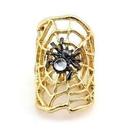 JewelryVolt  - Duo Tone Spider Web Stretch Ring