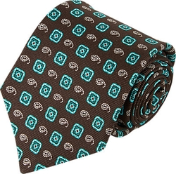 Kiton  - Medallion & Paisley Silk Neck Tie