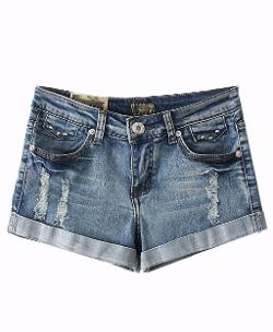 Chic Nova - Street Style High Waist Wear Out Washable Denim Shorts