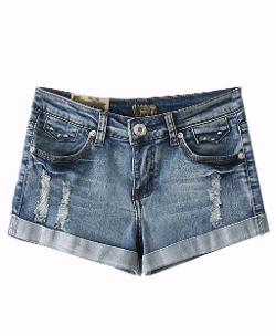 Chic Nova - Street Style High Waist Wear Out Washable Denim Shorts