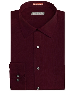 Van Heusen - Traveler Fitted Solid Dress Shirt