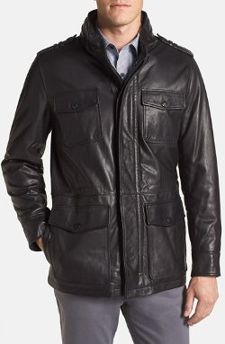 Vince Camuto - Leather Field Jacket