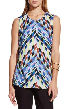 Vince Camuto  - Chevron Print High/Low Top