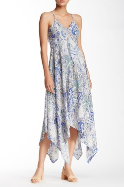 Dee Elle - Strappy & Printed Handkerchief Hem Dress