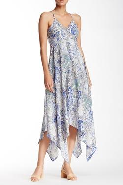 Dee Elle - Strappy & Printed Handkerchief Hem Dress