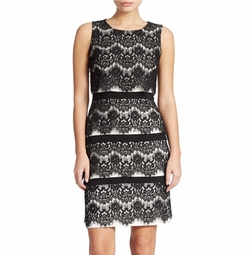 Xscape - Tiered Lace Sheath Dress