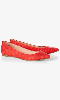 Express - Textured Pointed Toe Flat
