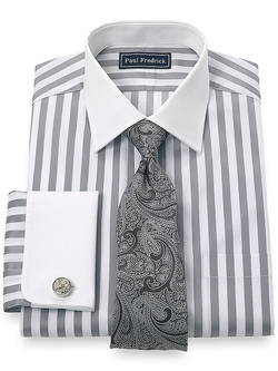 Paul Fredrick - Spread Collar French Cuff Dress Shirt