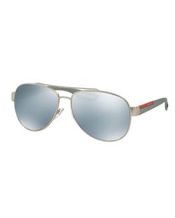 Prada  - Metal Aviator Sunglasses