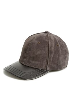 Rag & Bone  - Suede & Leather Baseball Cap