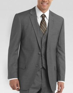 Wilke Rodriguez  - Gray Vested Slim Fit Suit