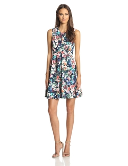Ali Ro - Sleeveless Floral Fit and Flare Dress