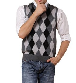 Zerdocean  - Argyle V-Neck Sweater Vest