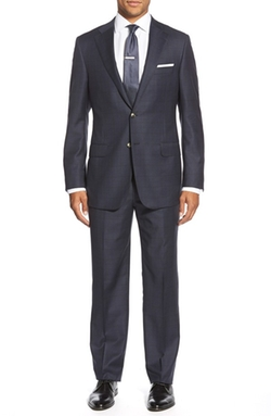 Hickey Freeman  - Classic Fit Check Wool Suit