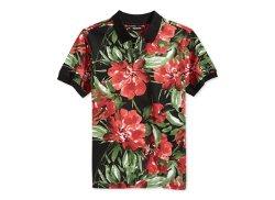Trukfit  - Floral Pique-Knit Polo Shirt