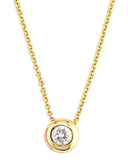 Effy - Diamond Bezel Pendant Necklace